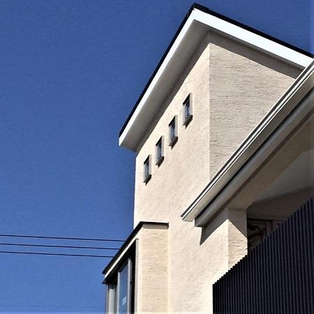 【住宅】片流れ屋根の家